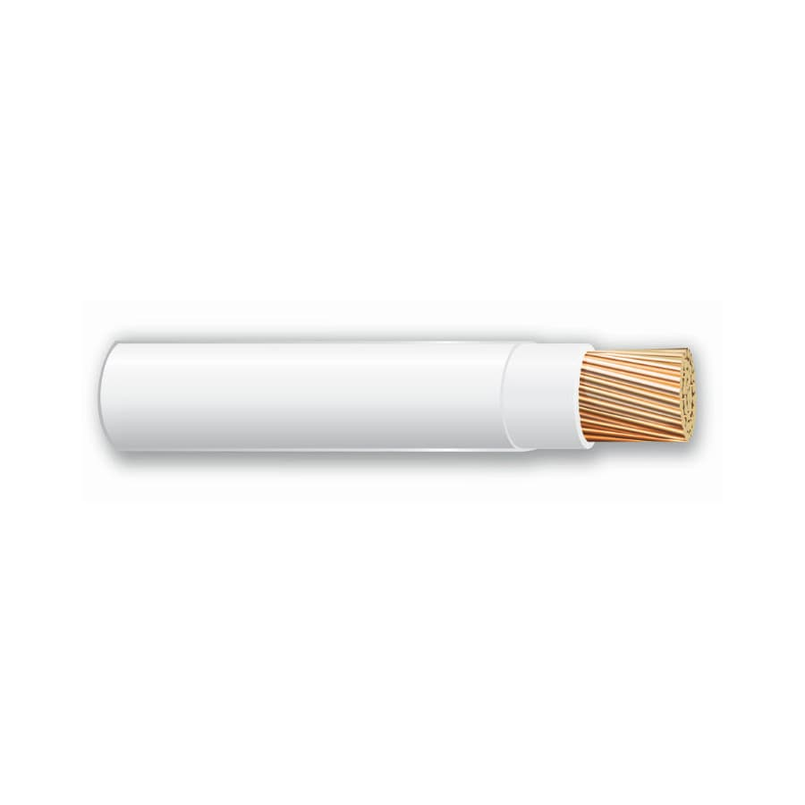 500-ft 10-AWG Stranded White THHN Wire (By-the-Roll)