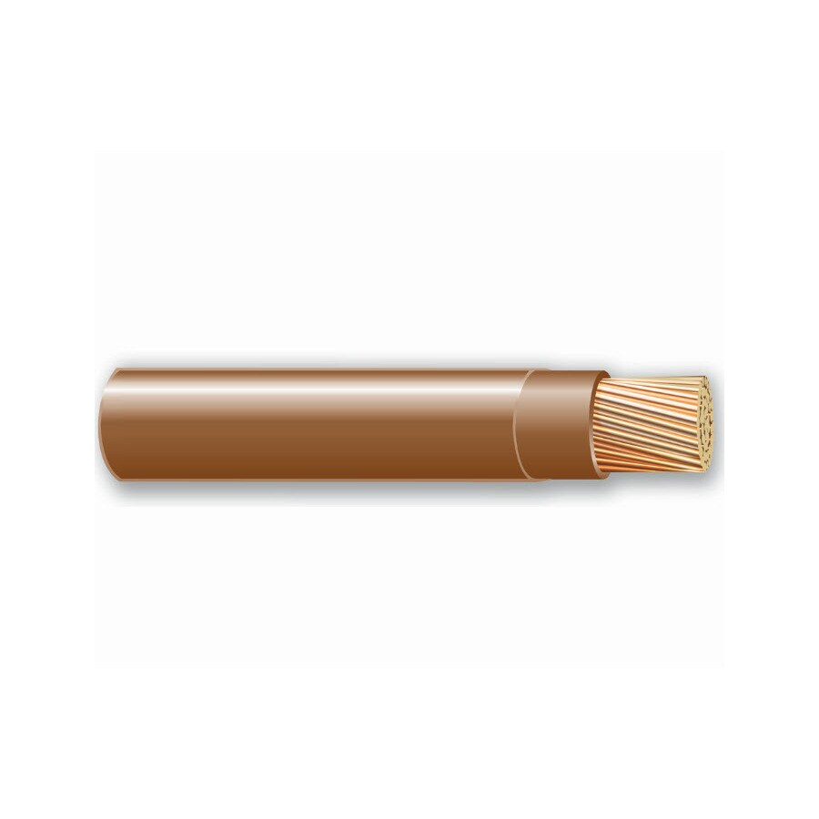 500-ft 10-AWG Stranded Brown THHN Wire (By-the-Roll)