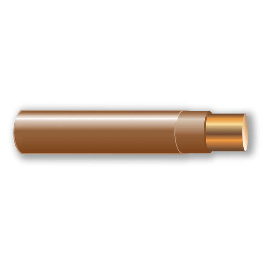 Shop 500-ft 14-AWG Solid Brown THHN Wire (By-the-Roll) at Lowes.com