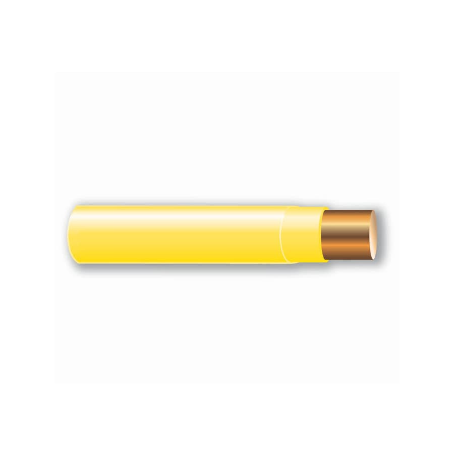 Shop Cerro Wire 14-AWG Solid Yellow Copper THHN Wire (By-the-Foot ...