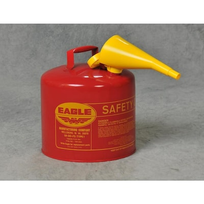 Eagle 5-Gallon Metal Gasoline Can at Lowes.com