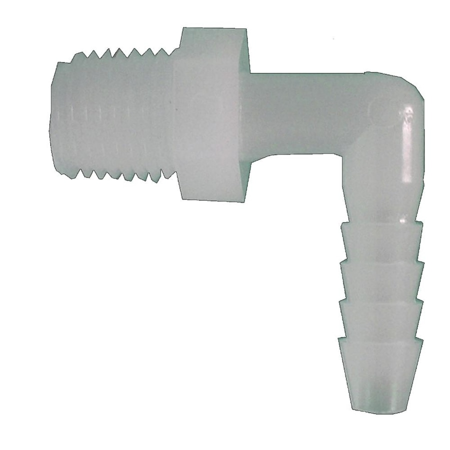 Watts 1/4-in x 1/4-in Barbed Barb x MIP Elbow Elbow Fitting