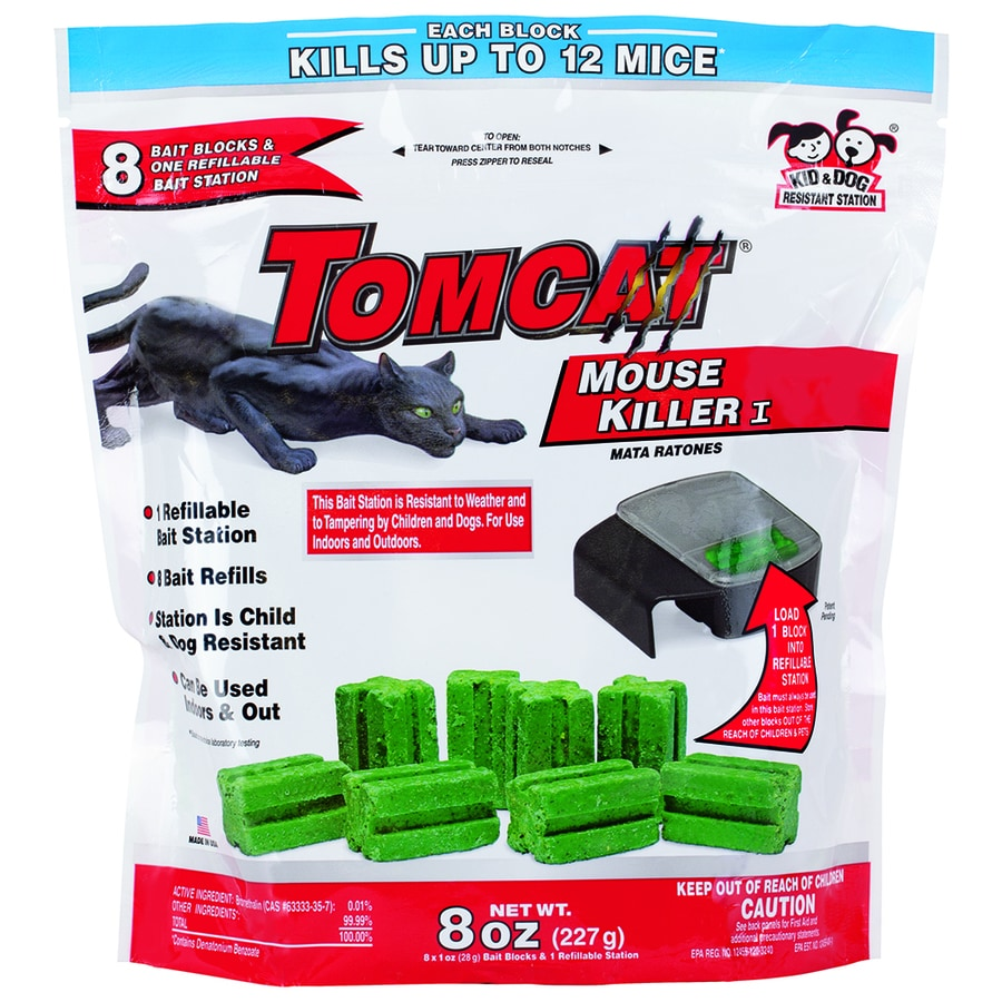 TOMCAT Mouse Killer I 1-oz Mouse Bait Station