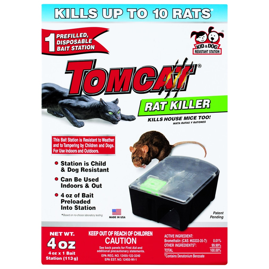 TOMCAT Rat Killer 4-oz Mouse Bait Station