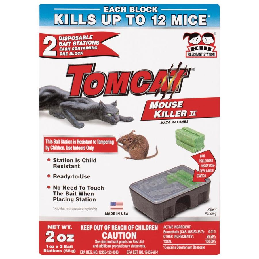 TOMCAT Mouse Killer II 4-oz Mouse Bait Station