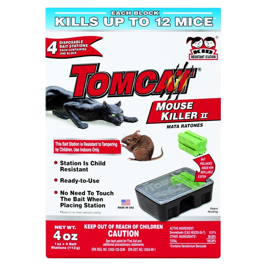 TOMCAT Mouse Killer Pre-loaded Disposable Mouse Bait Station