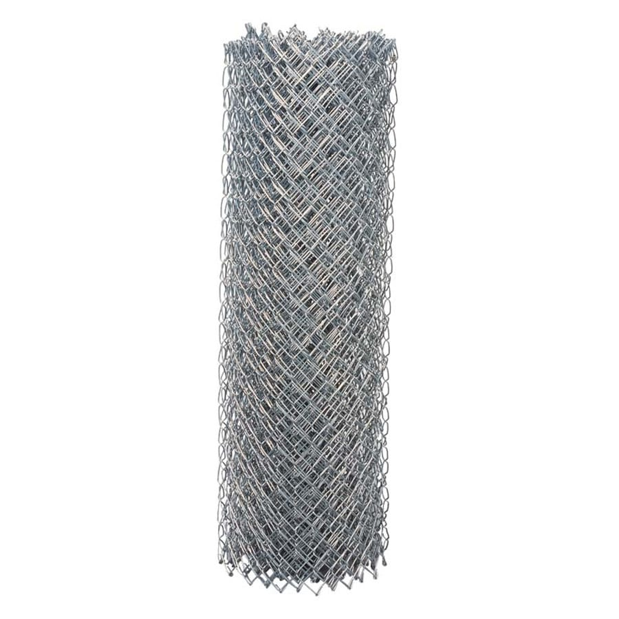 Shop 4-ft x 10-ft Uncoated Galvanized Steel 11.5-Gauge Chain-Link ...