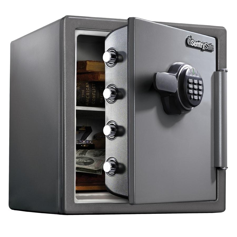Shop sentrysafe ft electronic keypad commercial for 1 51 cu ft solid steel digital floor safe