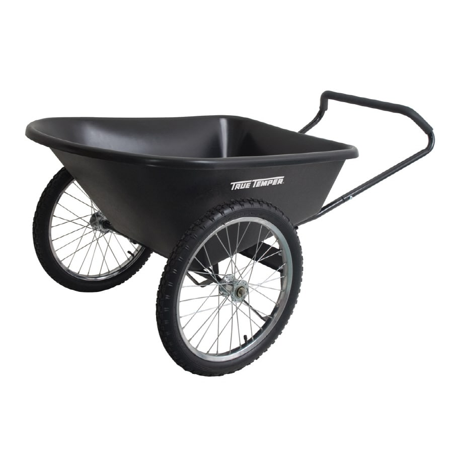 Shop True Temper 6 cu ft Plastic Yard Cart at Lowescom