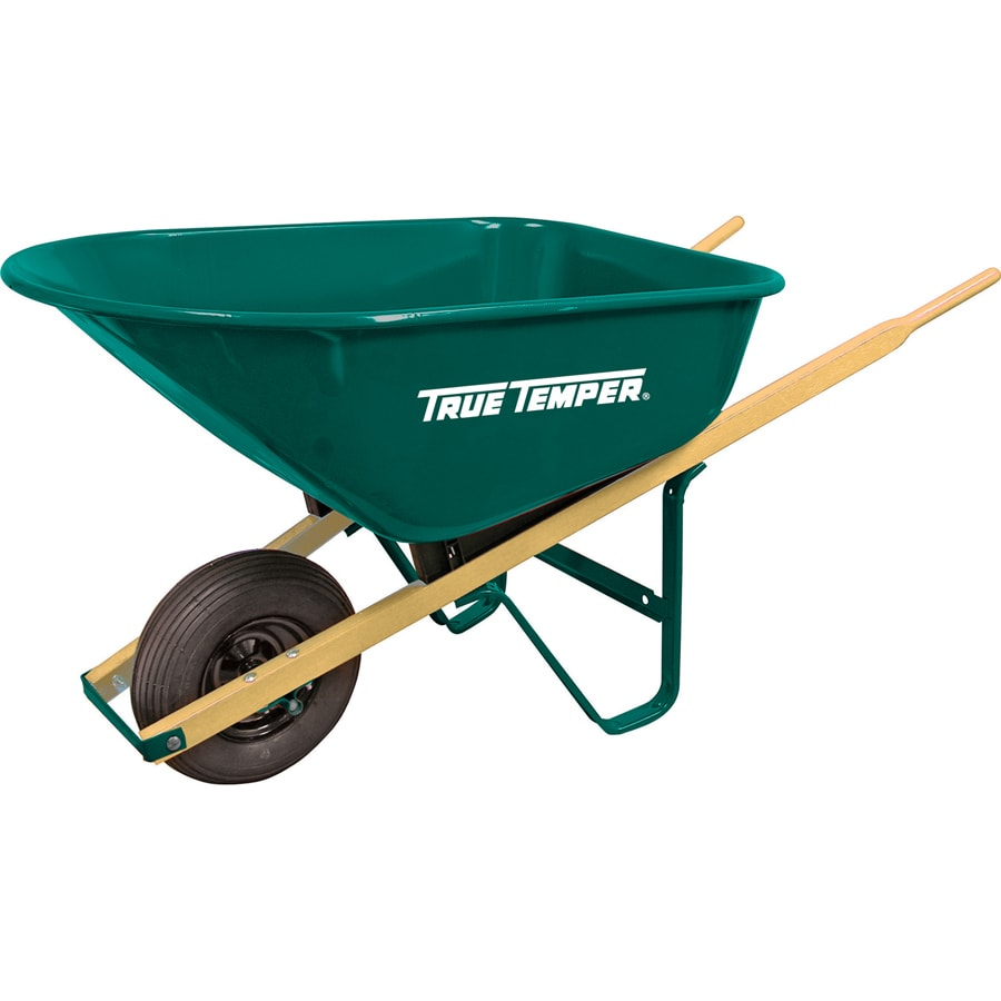 True Temper 6-cu ft Steel Wheelbarrow