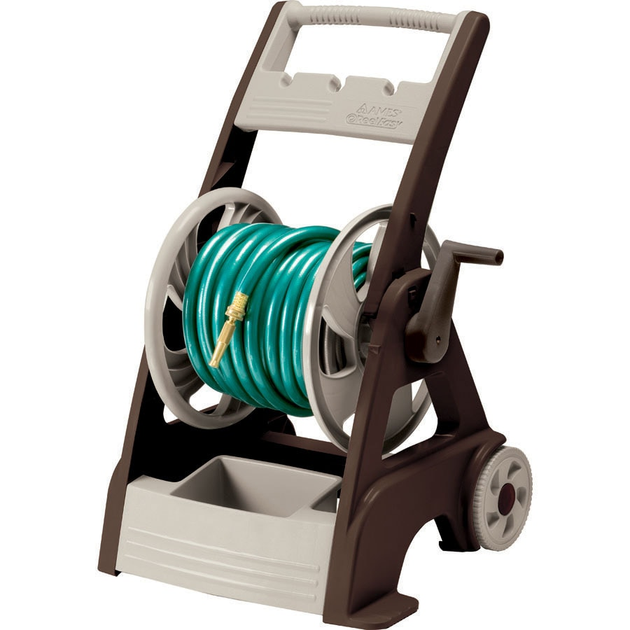 neverleak plastic 250 ft cart hose reel - Garden Hose Reel Cart