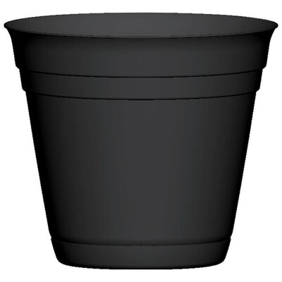 H Black Plastic Planter At Lowes