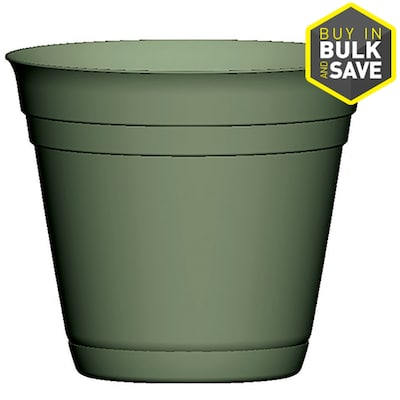 H Green Smooth Plastic Planter