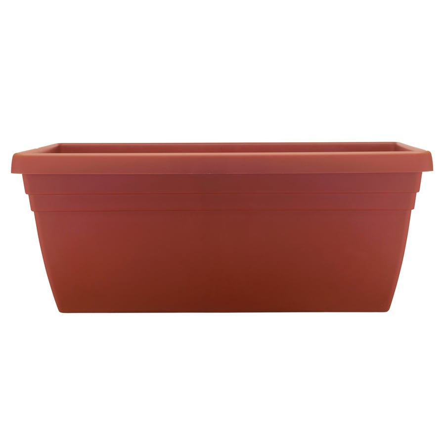 Shop garden treasures x 9 5 in planter at - Deck rail planters lowes ...