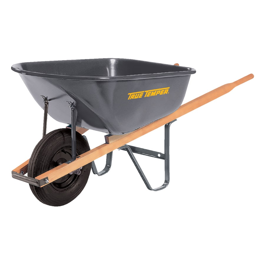 True Temper 6 Cu Ft Steel Wheelbarrow
