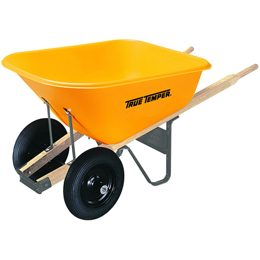 Shop True Temper 8 Cu Ft Poly Wheelbarrow At Lowes Com