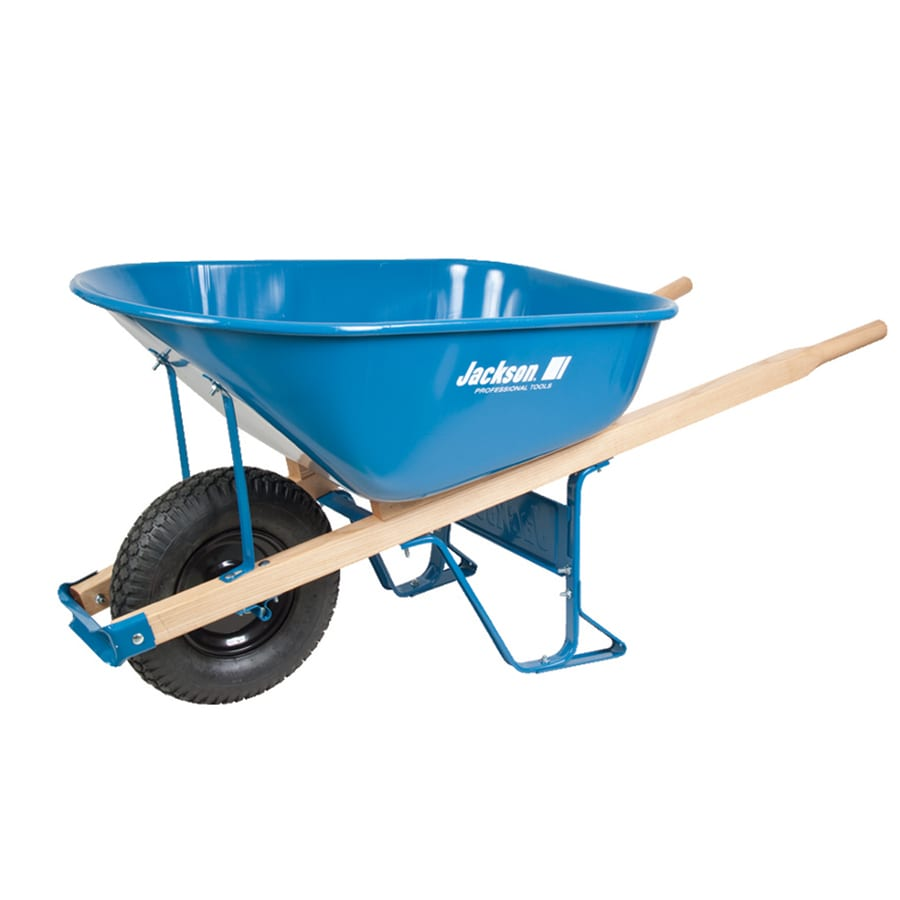 Jackson 6 Cu Ft Steel Wheelbarrow With Flat Free Tire S