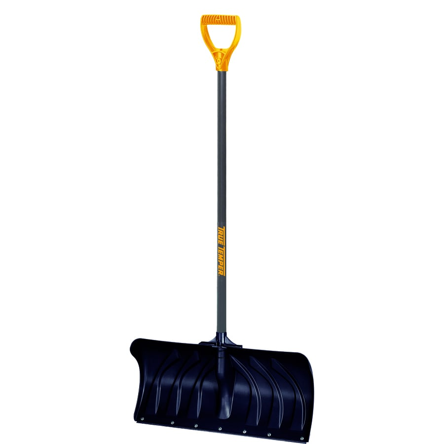 True Temper 24-in Poly Snow Shovel with 36-in Steel Handle