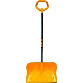 True Temper 20-in Poly Snow Shovel with 34.5-in Steel Handle