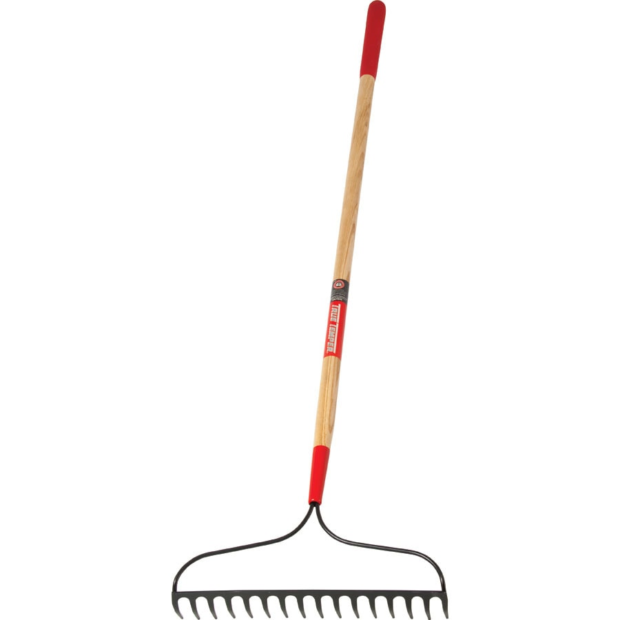 True Temper 51-in L Wood-Handle Welded Steel Garden Rake