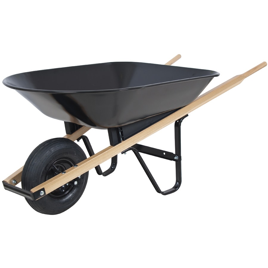 Shop Blue Hawk 4 Cu Ft Steel Wheelbarrow At Lowes Com