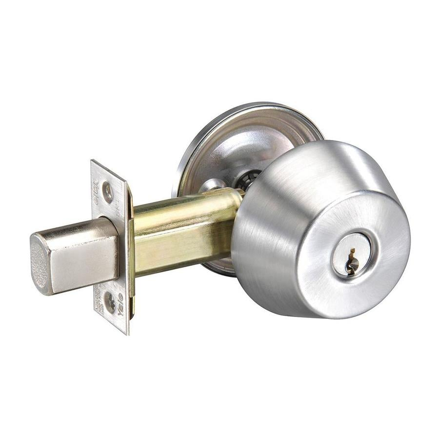 Yale Security D200 Satin Chrome Single-Cylinder Deadbolt