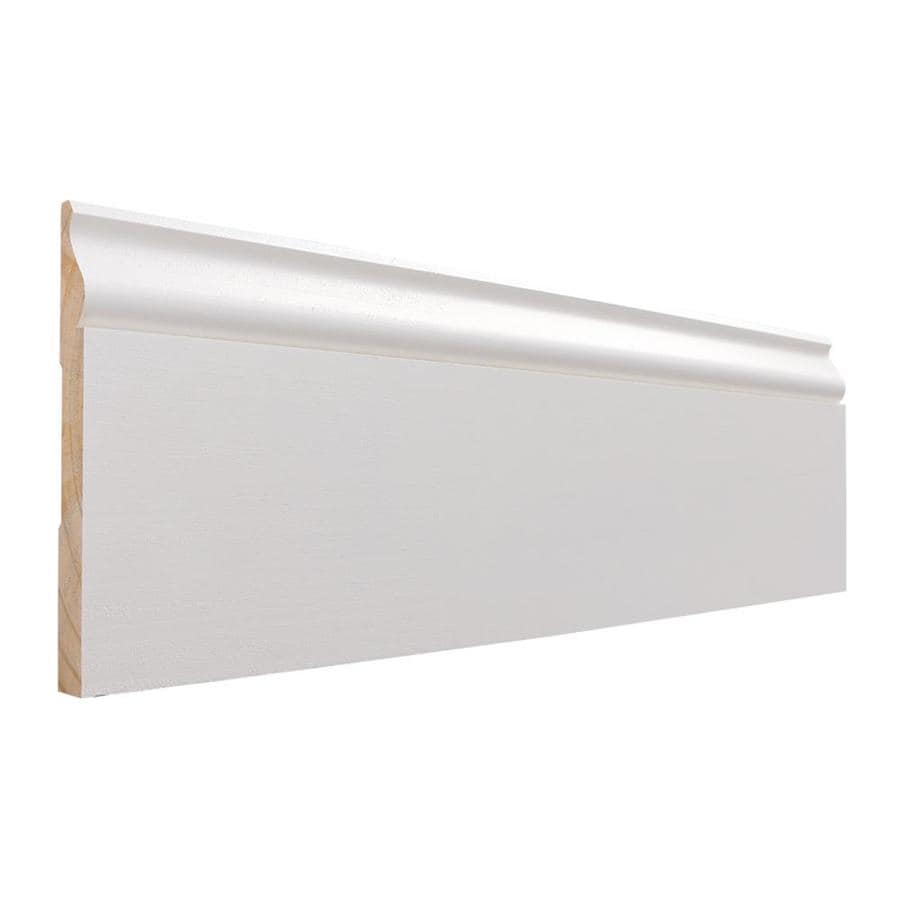 0.563-in x 16-ft Interior Primed MDF Baseboard Moulding
