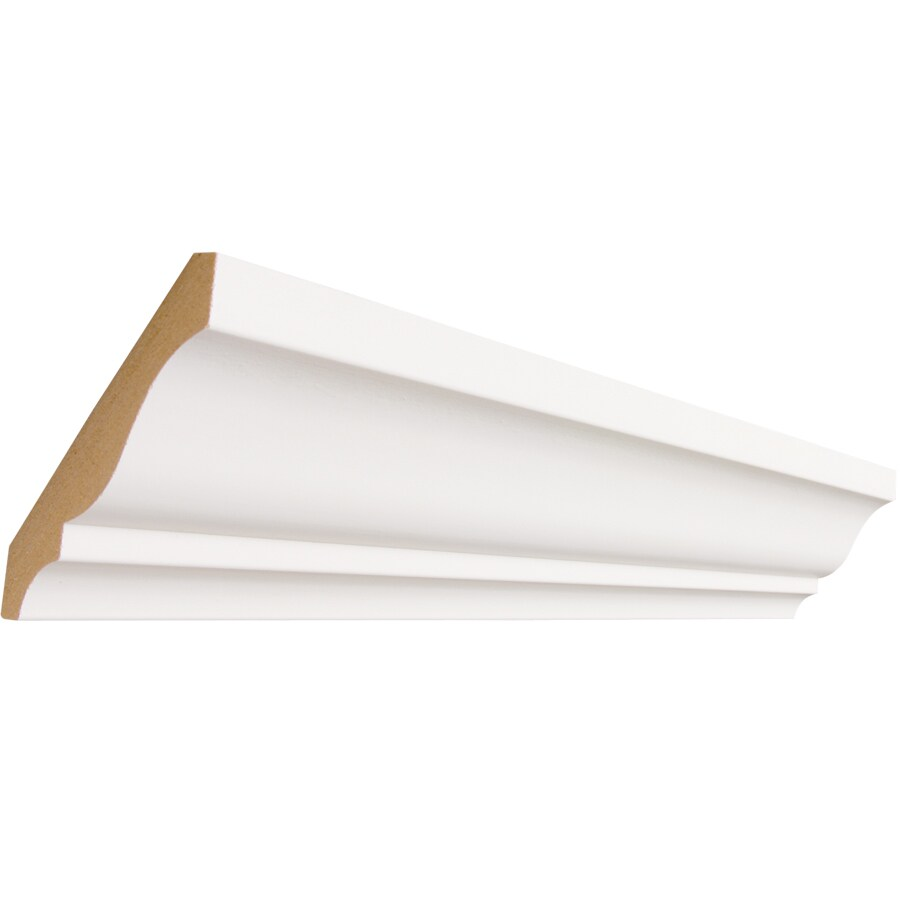 3.625-in x 8-ft Primed MDF Crown Moulding