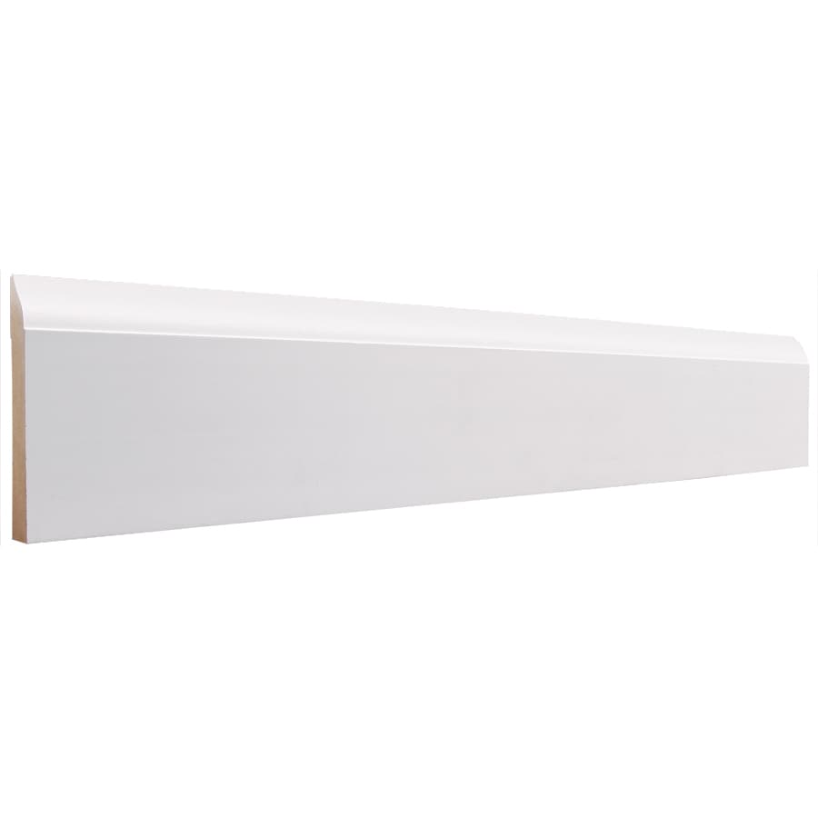 3-in x 8-ft Interior Primed MDF Baseboard Moulding