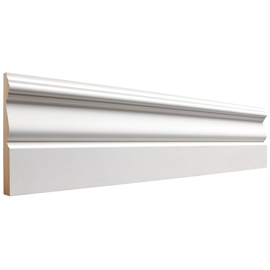 4.5-in x 16-ft Interior Primed MDF Baseboard Moulding