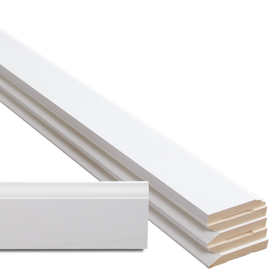 6-Pack 3.25-in x 16-ft Interior MDF Baseboard