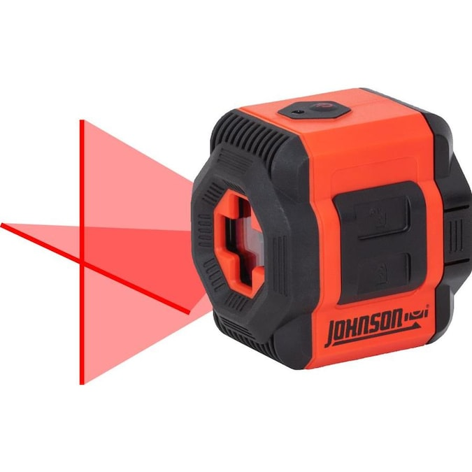 Johnson Level Cross Line Laser Level 30 Ft Red Beam Self Leveling Cross Line 360 Laser Level With Plumb Points And Level In The Laser Levels Department At Lowes Com