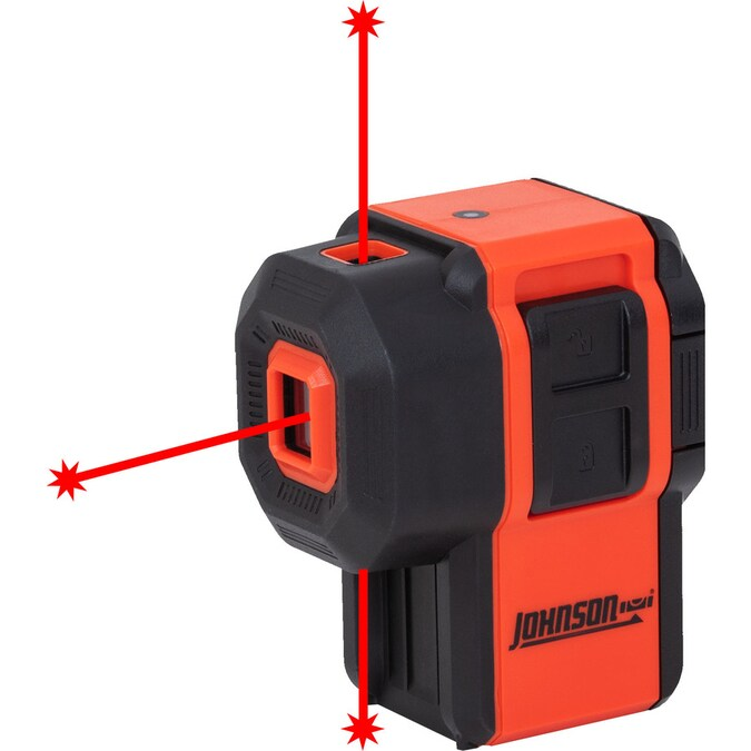 Johnson Level Laser 30 Ft Red Beam Self Leveling Cross Line 360 Laser Level With Plumb Points And Level With Case In The Laser Levels Department At Lowes Com