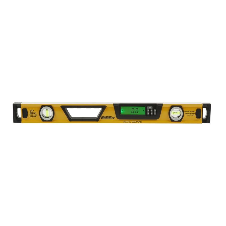 Johnson Level 24-in Digital Display Box Beam Standard Level