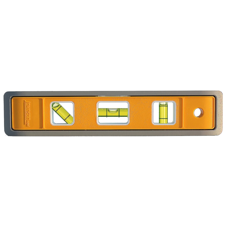 "Johnson Level & Tool 9"" Contracter GLO-VIEW� Glow-in-the-Dark Magnetic Aluminum Torpedo Level"