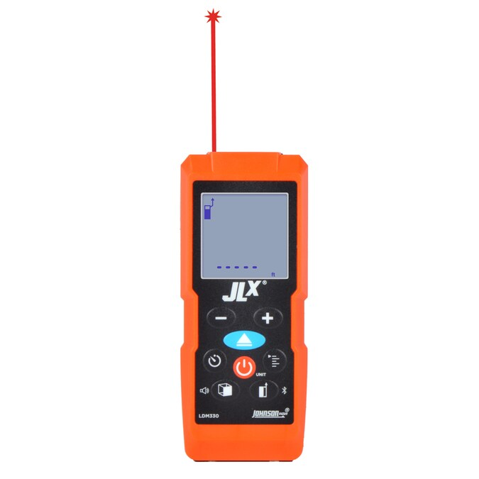 Johnson Level Laser Distance Measuring 330 Ft Outdoor Laser Distance Measurer With Backlit Display And Bluetooth Compatibility In The Laser Distance Measurers Department At Lowes Com