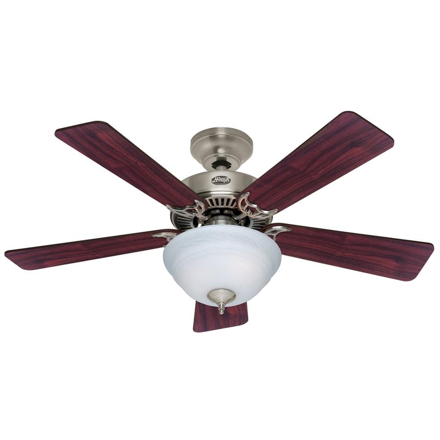 Hunter 42-in Kensington Brushed Nickel Ceiling Fan with Light Kit