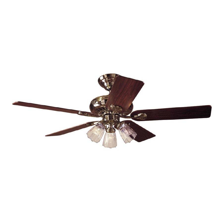 Shop hunter 52 summer breeze plus bright brass ceiling fan at lowes hunter 52 summer breeze plus bright brass ceiling fan aloadofball Image collections