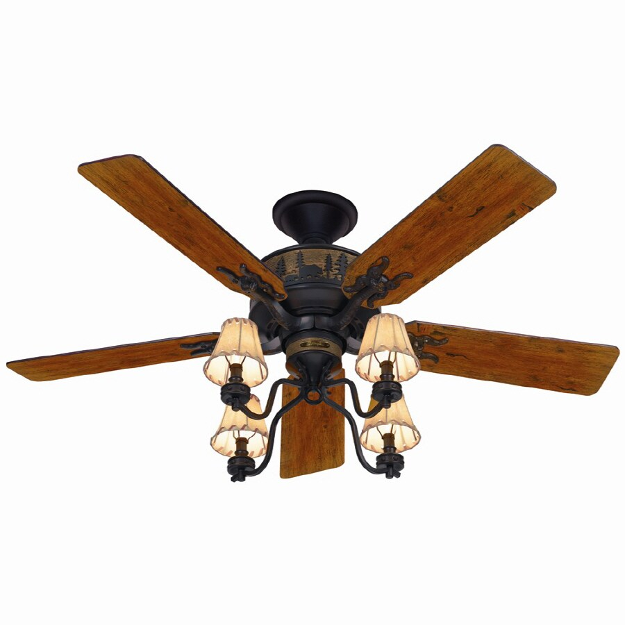 Shop Hunter 52-in Multi-Position Indoor Ceiling Fan With