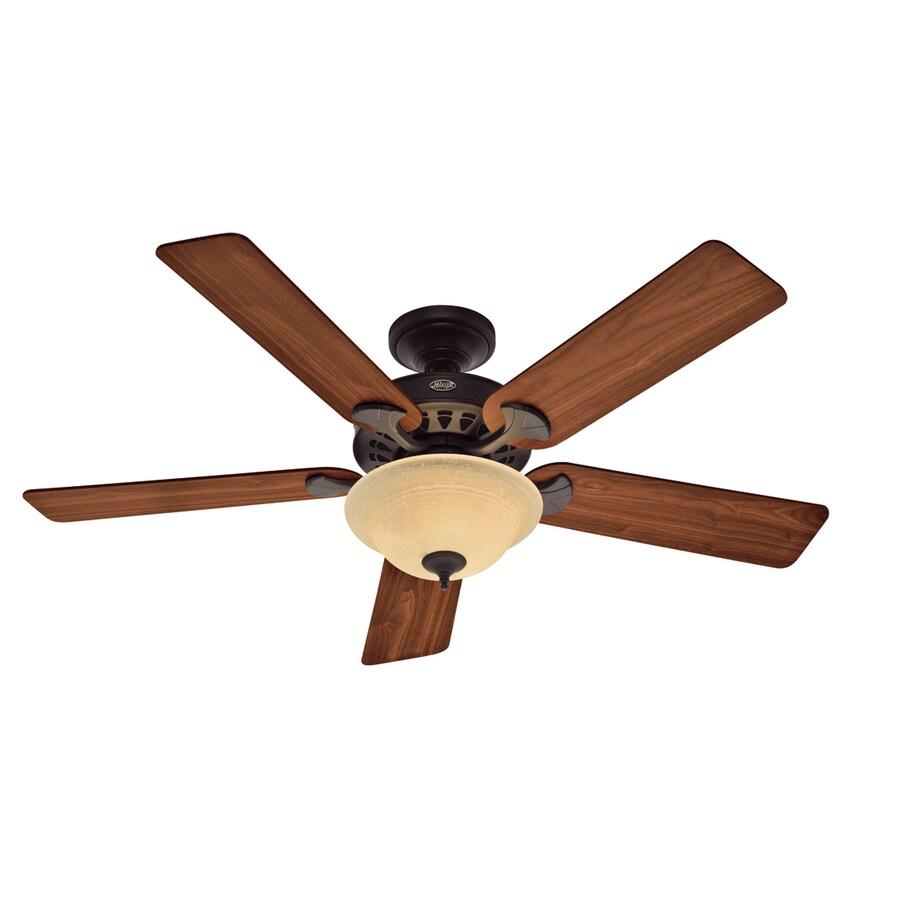 Shop Hunter 52-in Sonora New Bronze Ceiling Fan With Light