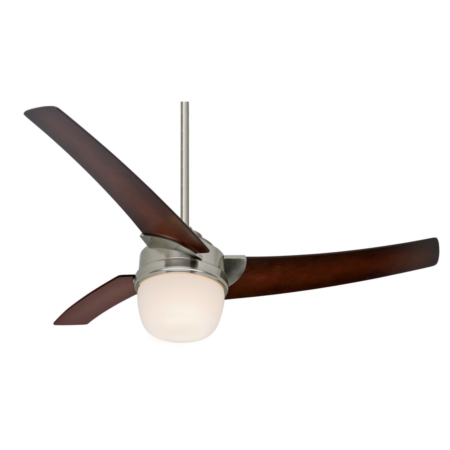 Prestige by Hunter 54-in Eurus Brushed Nickel Ceiling Fan with Light Kit and Remote