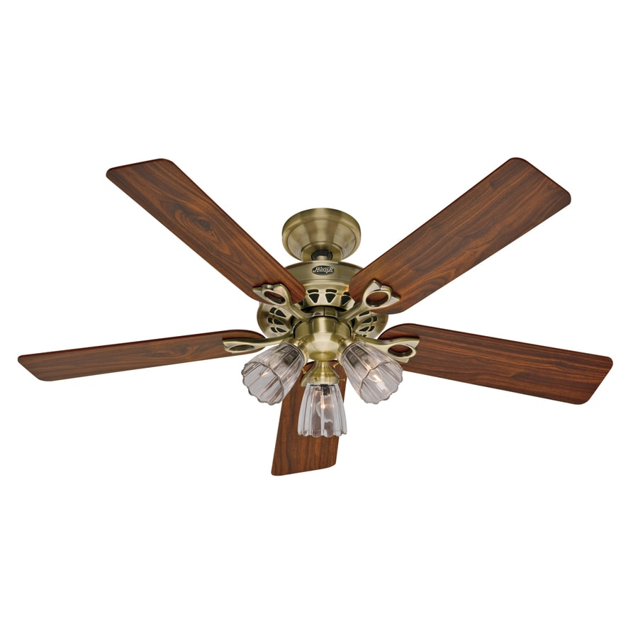 Hunter Ceiling Fan Light Kits Antique Brass: Shop Hunter 52-in The Sontera Antique Brass Ceiling Fan
