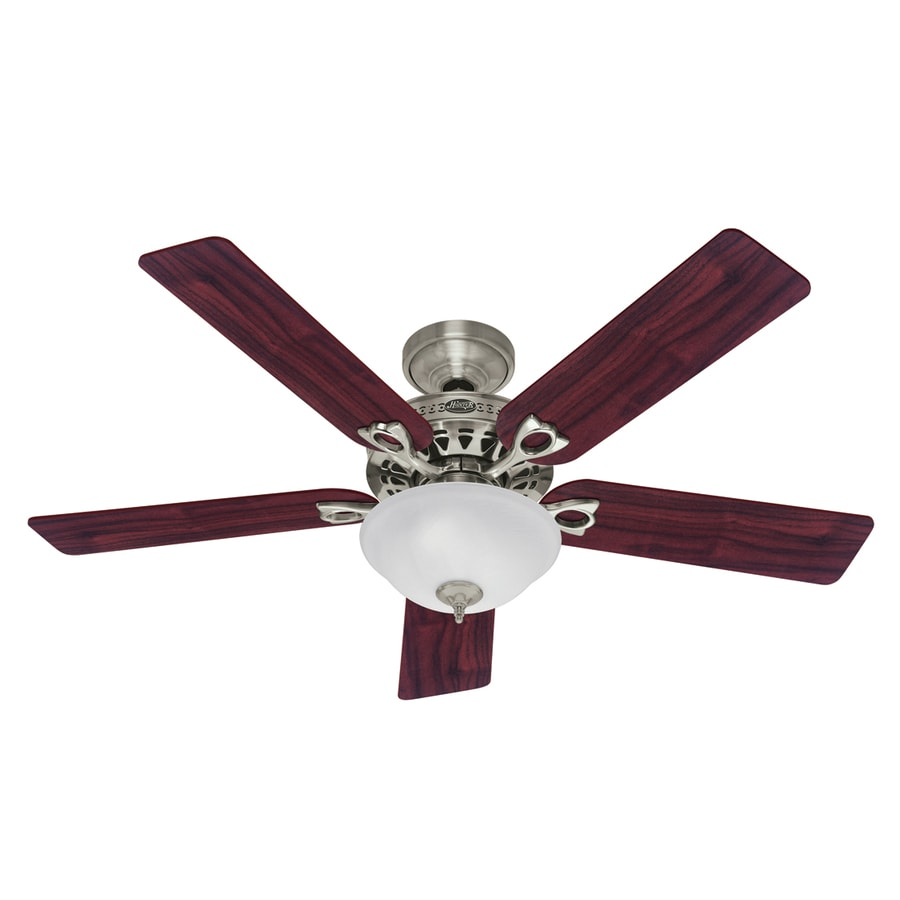 Hunter 52-in Astoria Brushed Nickel Ceiling Fan with Light Kit
