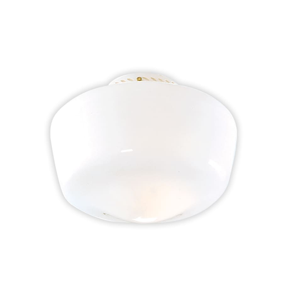 Hunter 7-in H 9.5-in W White Opal Schoolhouse Ceiling Fan Light Shade