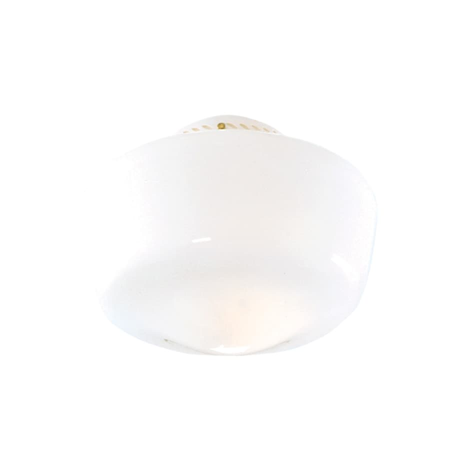 Hunter 7-in H 10-in W White Opal Schoolhouse Ceiling Fan Light Shade