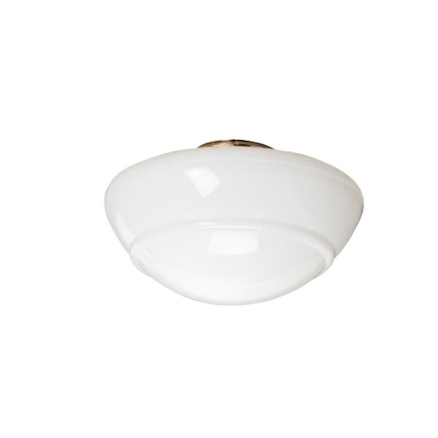 Hunter 5.5-in H 10.5-in W White Opal Schoolhouse Ceiling Fan Light Shade