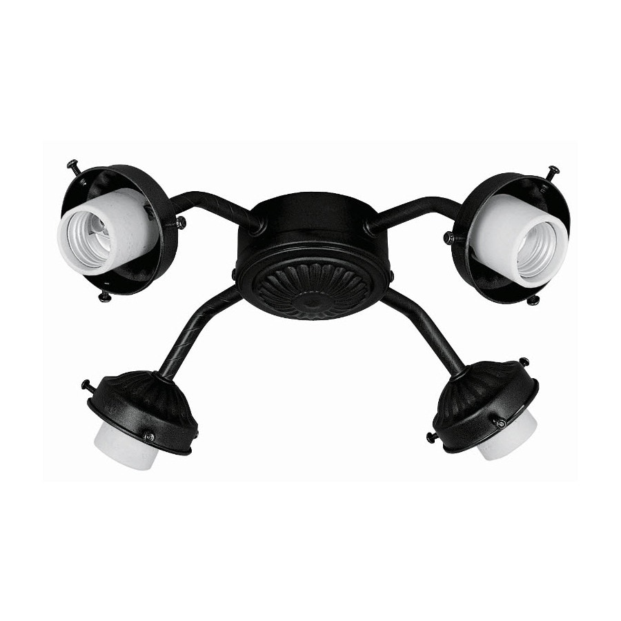Hunter 4-Light Matte Black Ceiling Fan Light Kit with Glass Not Included Glass or Shade
