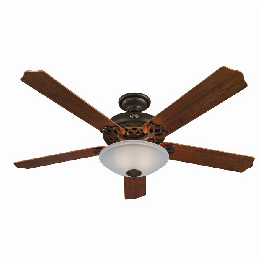 "Hunter Capshaw 60 Premier Bronze Ceiling Fan With Light: Shop Hunter 60"" Grand Lodge New Bronze Ceiling Fan At"