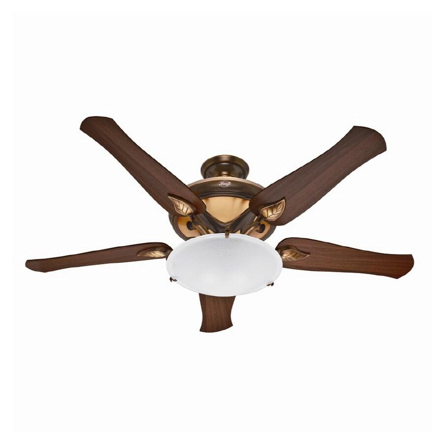 "Hunter Capshaw 60 Premier Bronze Ceiling Fan With Light: Hunter 60"" Ranier Amber Bronze Ceiling Fan At Lowes.com"