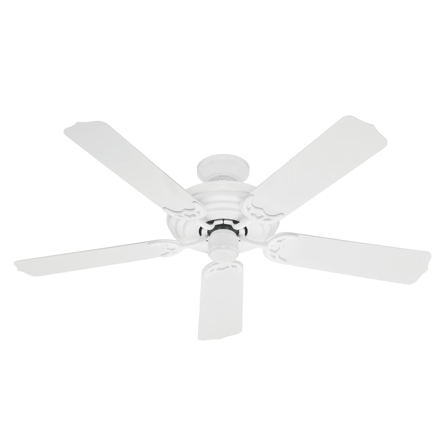 Hunter Sea Air 52-in White Outdoor Downrod Mount Ceiling Fan ENERGY STAR